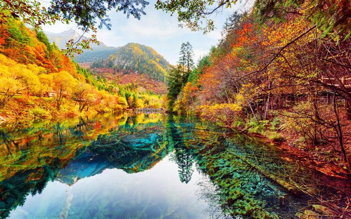 foto de Télécharger fonds d'écran Le Parc National de Jiuzhaigou, 4k, l ...