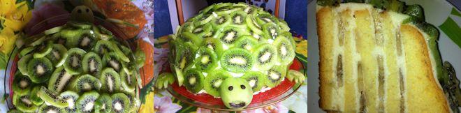 Schildkroten Kuchen Backen Schildkrotenkuchen Mit Kiwi