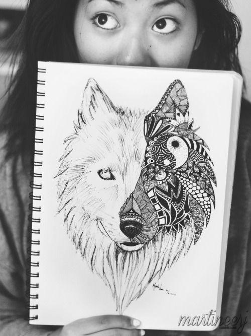 mandala wolf tattoo google search t a t t o o s. Black Bedroom Furniture Sets. Home Design Ideas