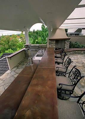 Large Bar Outdoor Kitchens California Concrete Designs Anaheim Ca Outdoor Design Outdoor Patio Outdoor Kitchen