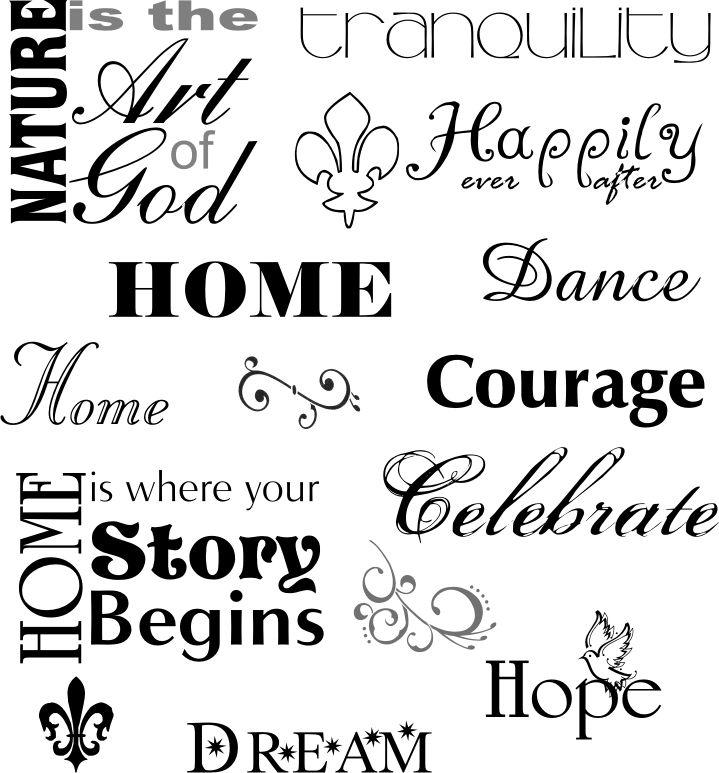 Inspirational Words Adorable Words File Contains Both Words And Designs Inpespec Vip