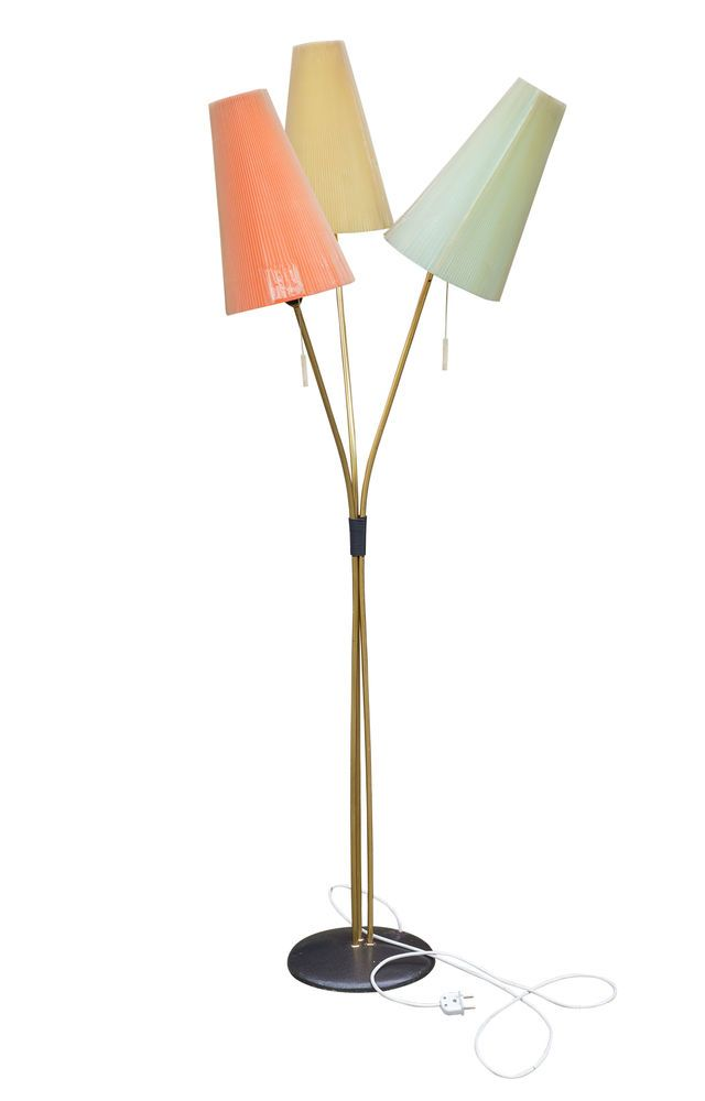 Details Zu Wohnzimmer Design Stehlampe M Holzfuss Vintage
