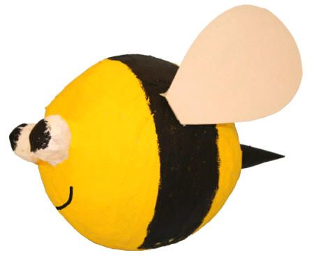 Bumblebee paper mache craft summer activities for kids for Making paper mache animals
