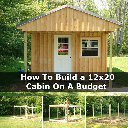 How to build a 12x20 cabin on a budget little spaces for Building a cottage on a budget
