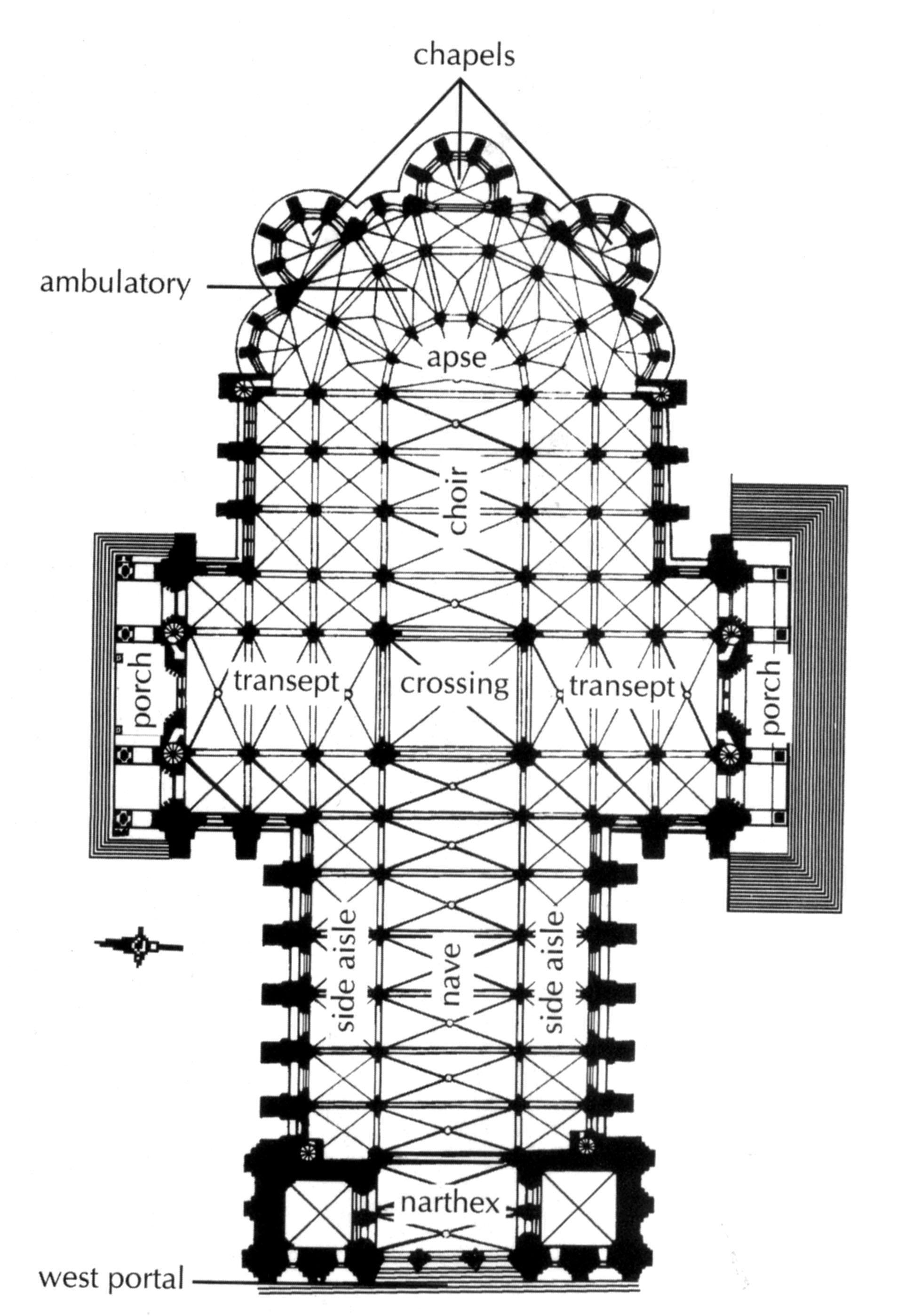 French Gotic Examples Comperative Plans Gambar Arsitektur Arsitektur Gambar