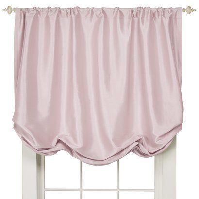 Simply Shabby Chic Faux Silk Balloon Shade Pink 60x63 Shabby Chic Curtains Simply Shabby Chic Balloon Shades
