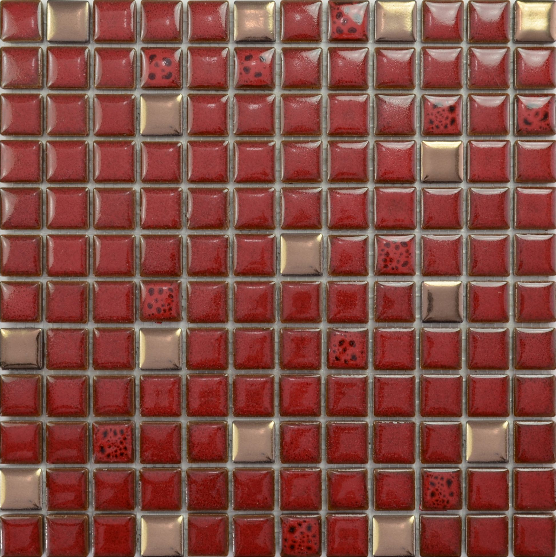 Mosaic Tile Kitchen Floor Glazed Porcelain Tile Sheets Bathroom Porcelain Ceramic Mosaic Red