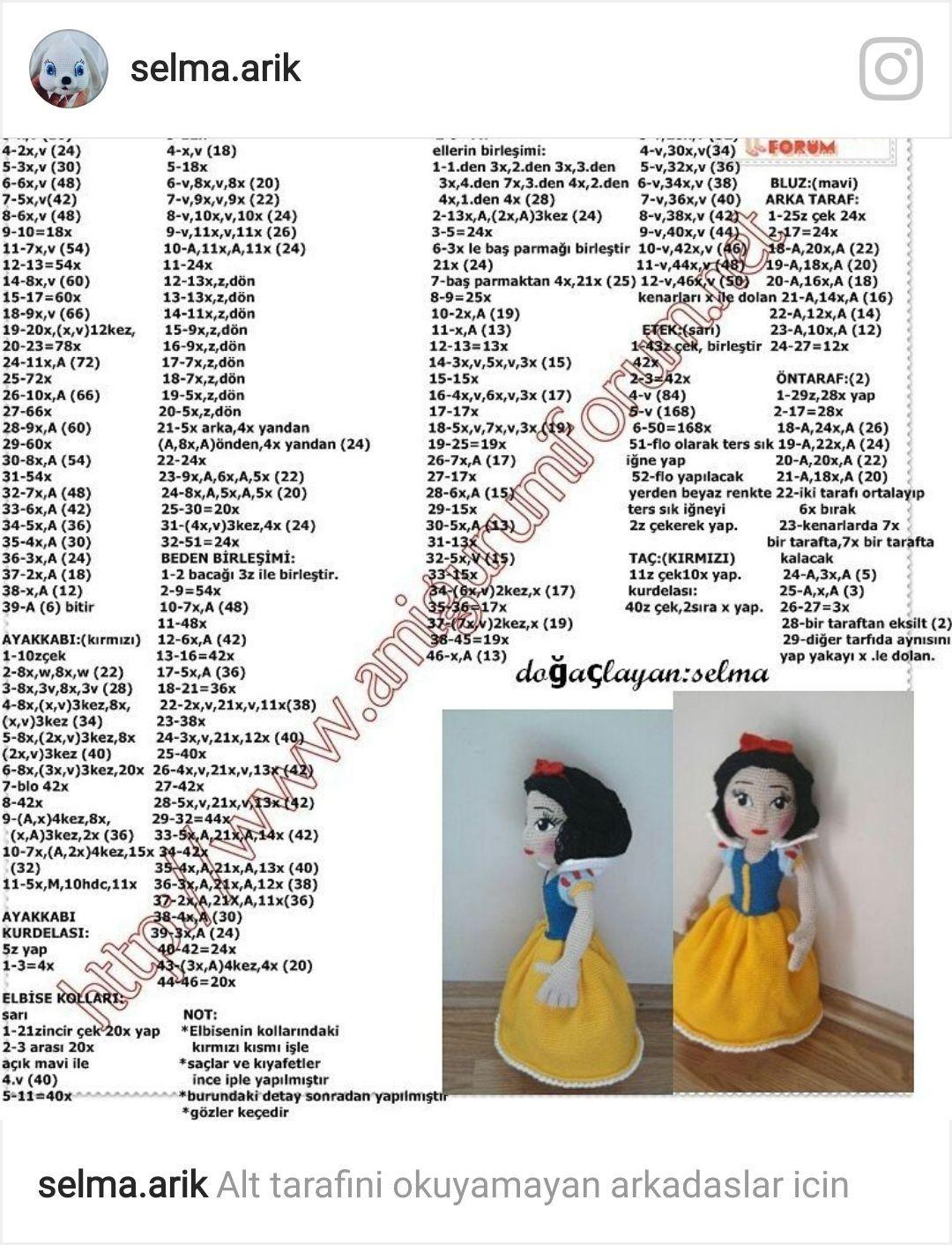 Pin de BANU en amigurumi | Pinterest | Muñecos en crochet, Amigurumi ...