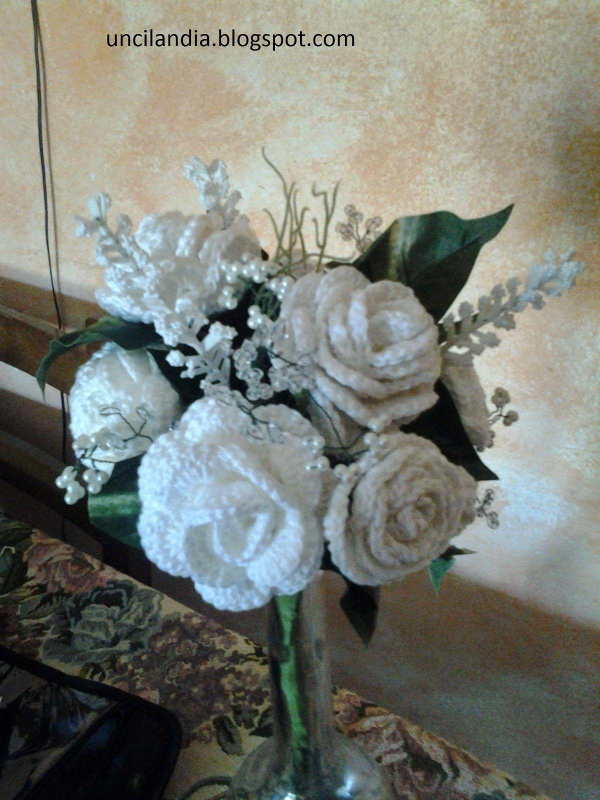 Bouquet Sposa Uncinetto Tutorial.Uncilandia Bouquet Di Rose All Uncinetto Bouquet Of Roses C