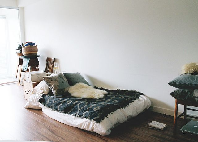 Cozy Floor Bed in an Apartment by Scout \ Catalogue, via Flickr