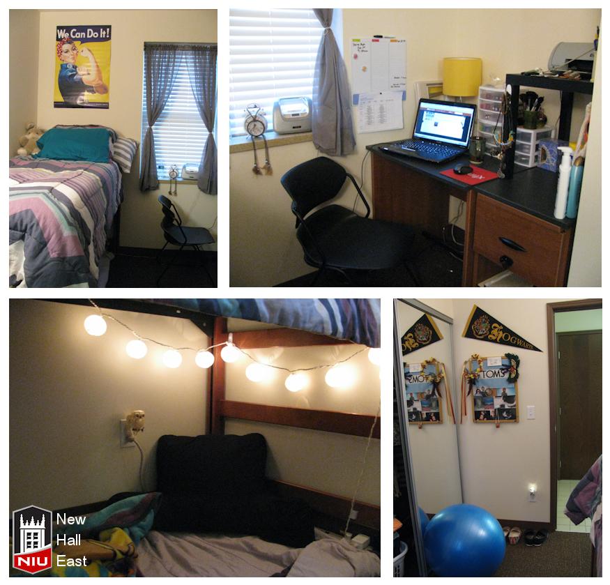 New Hall East Dorm Room Northern Illinois University Part 52