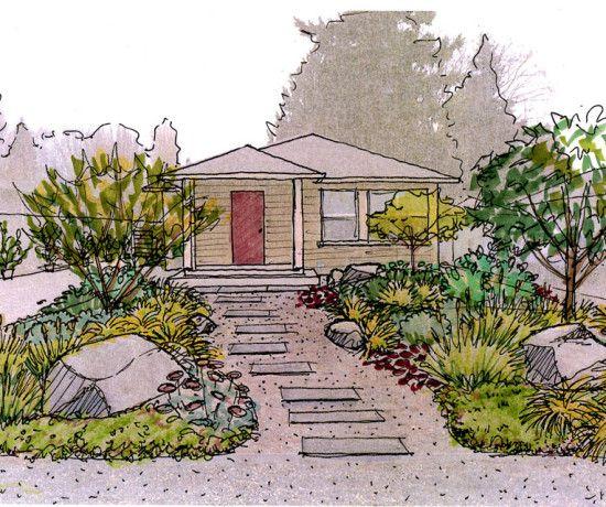 Garden Creation How To Draw A Perspective Sketch Drawntogarden Perspective Sketch Garden Drawing Garden Design