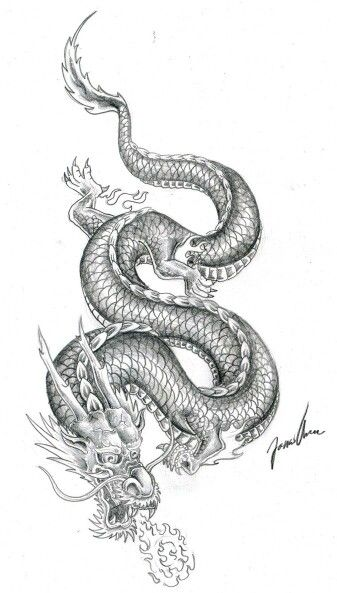 Photo of Chinese dragon tattoo I want on top of my left arm. But I want it redesigned.
