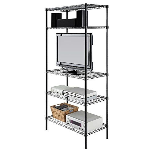 Cheap Garage Storage 5 Tier Shelving Unit Black Shelf Deep Shelves //bestoutdoorstorage  sc 1 st  Pinterest & Cheap Garage Storage 5 Tier Shelving Unit Black Shelf Deep Shelves ...