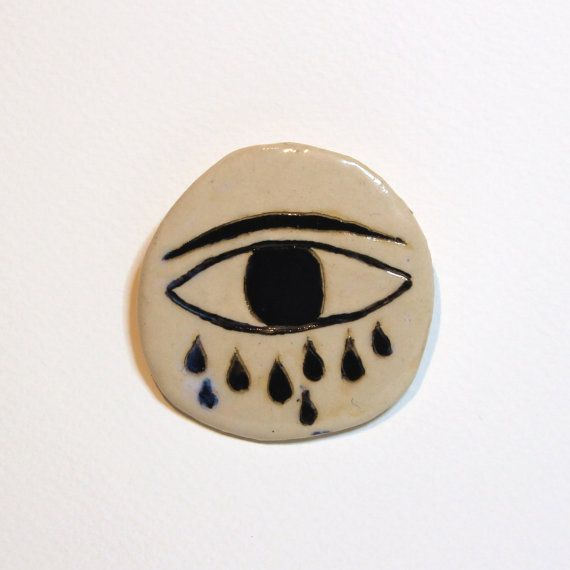 Eye Cloud Ceramic Brooch Brooches Eye And Clay