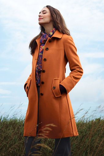 Women's Luxe Wool Swing Car Coat from Lands' End | Fashion ...