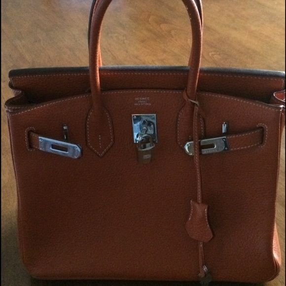 9936db63d8 ✨AUTHENTIC✨ Hermes Orange Togo Birkin 30mm Bag in orange Togo ...