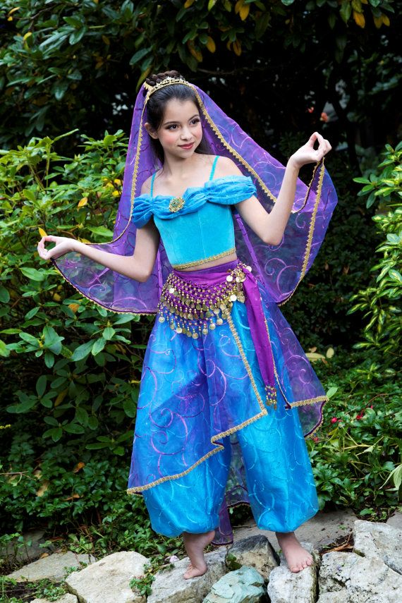 Jasmine Disney Princess Complete Deluxe Costume Set By Ella Dynae