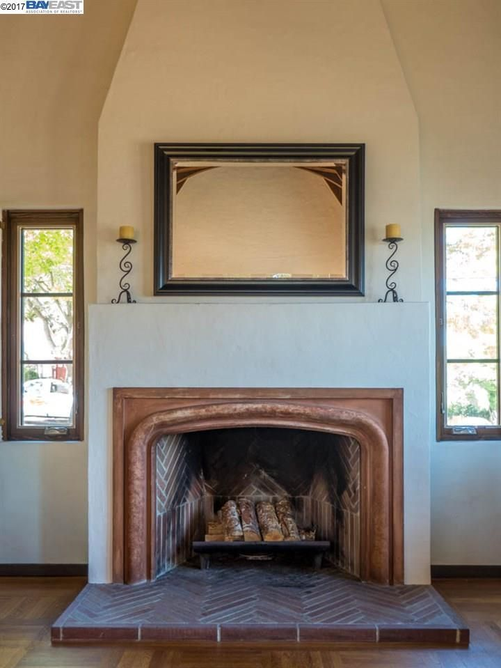 tudor fireplace with tile and herringbone patturn arts and crafts rh pinterest com