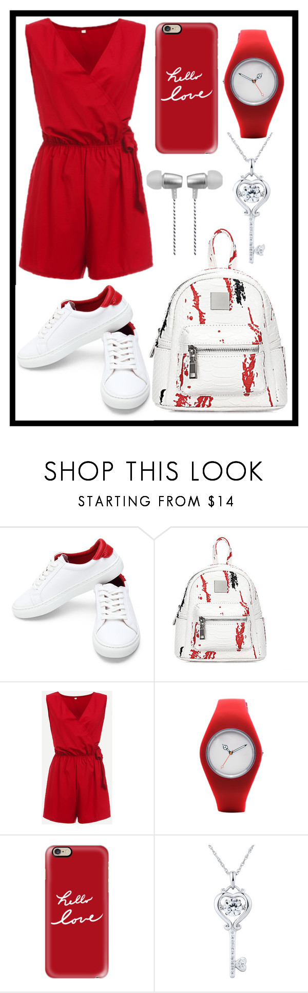 """""""389: Red and White"""" by alinepelle ❤ liked on Polyvore featuring Casetify and Cynthia Rowley"""