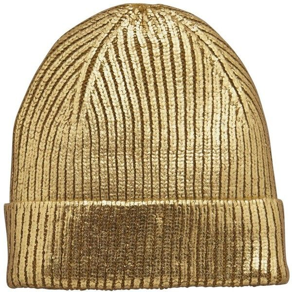 V By Very Metallic Beanie Hat ( 12) ❤ liked on Polyvore featuring  accessories 50ba9683de4