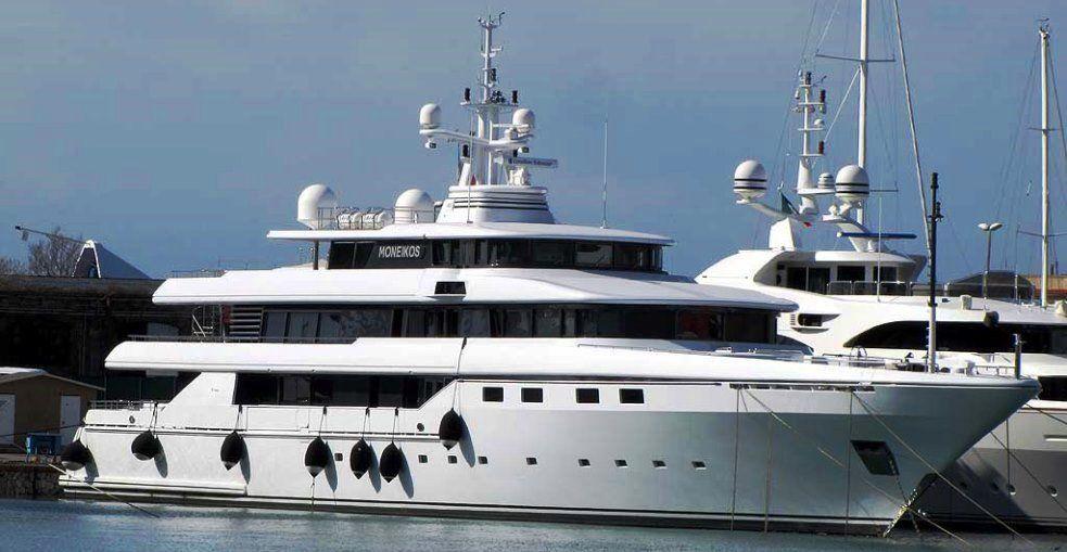 Yacht Moneikos owned by Leonardo Del Vecchio (founder of