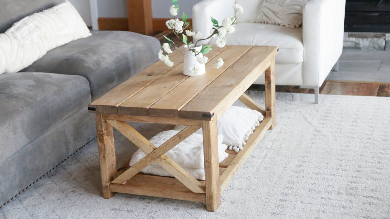 40 Farmhouse Coffee Table Easy To Build Youtube With Images
