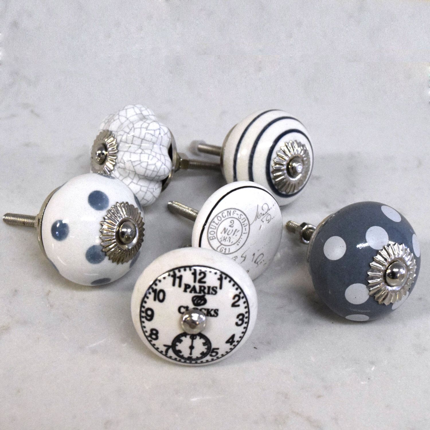 accessories of homeware and ceramic pushka home unique vintage grey door cupboard set knobs silver decor white ltd