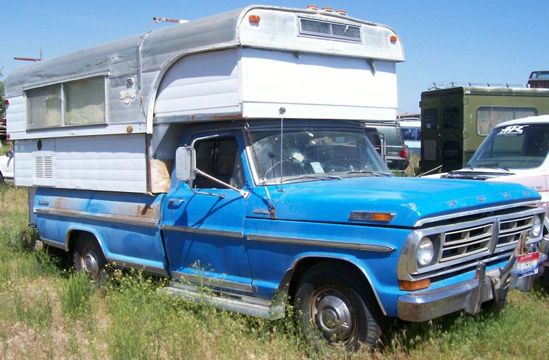 1972 Ford F 250 Camper Special With Alaskan Camper For Sale Right