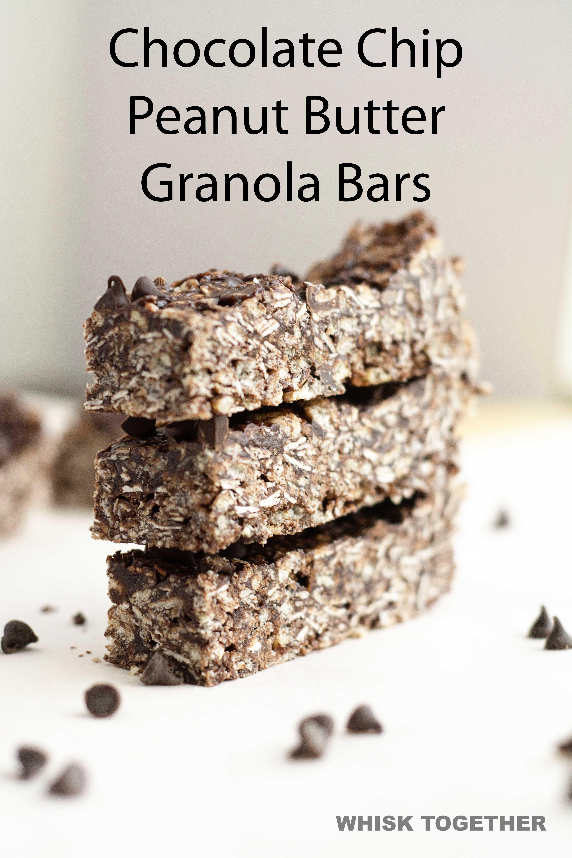 ***Chocolate Chip Peanut Butter Granola Bars ~ Alton Brown ...