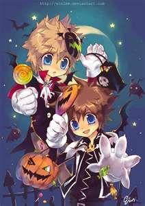 kingdom hearts halloweentown roxas and sora - Roxas Halloween Town