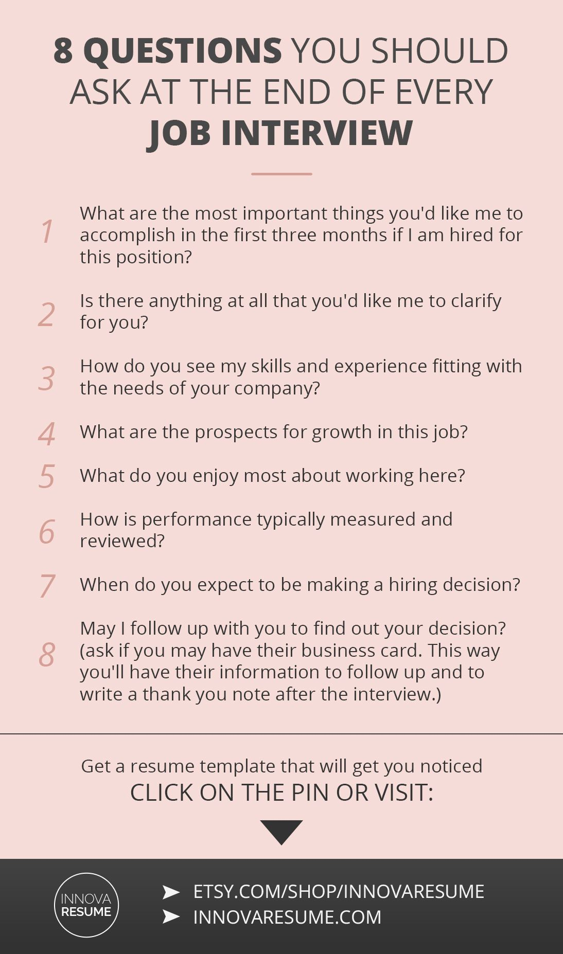Questions you should ask at the end of every job interview