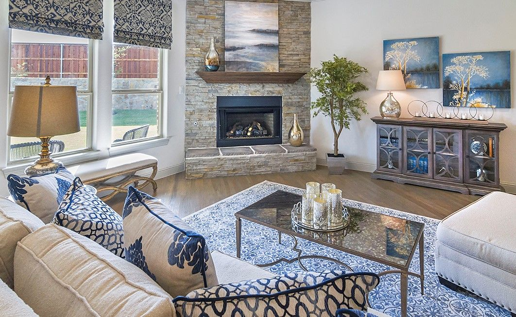 That fireplace though! Gorgeous details in this D.R ...