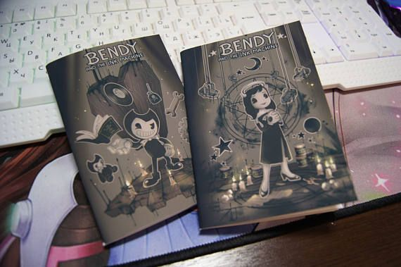 Bendy And The Ink Machine Notebook Com Imagens