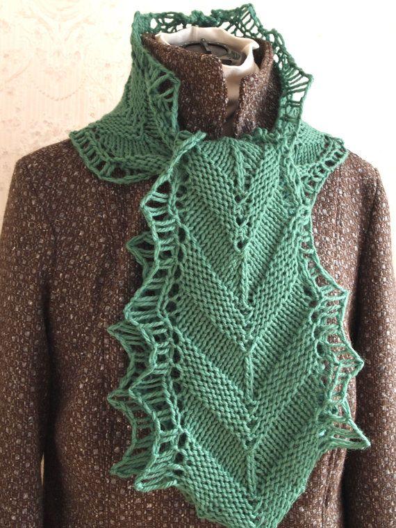 Chevi Pdf Hand Knit Scarf Pattern Stuff To Knit Scarves