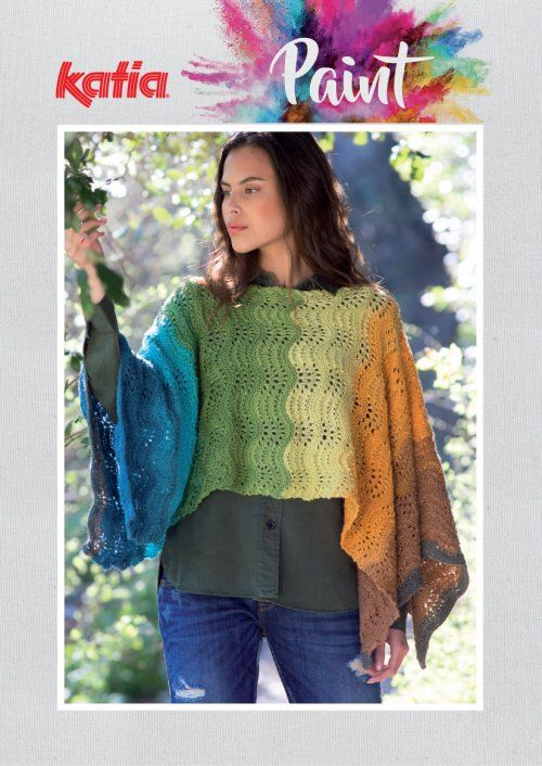 Paint Feather And Fan Poncho Free Knitting Pattern Poncho Knitting