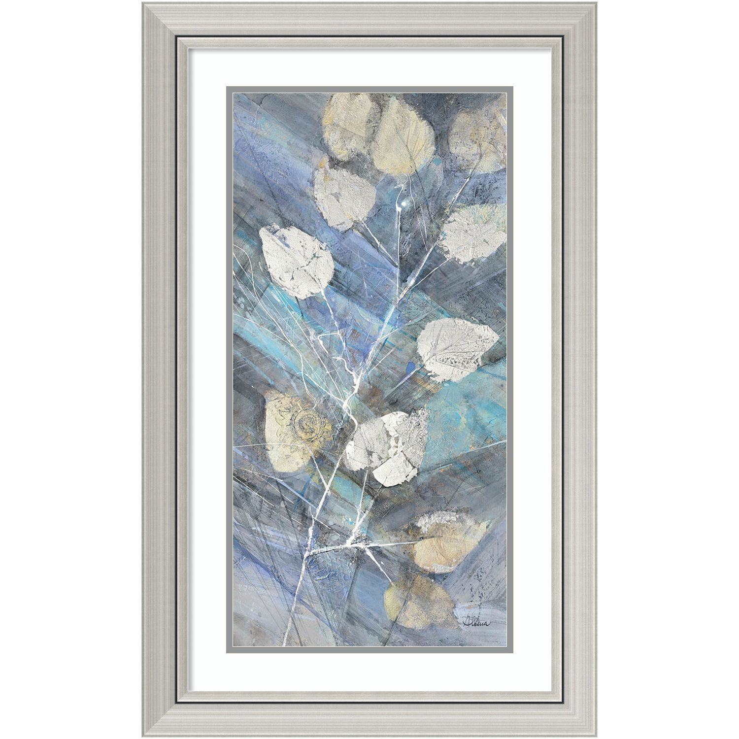 Framed Art Print \'Silver Leaves II\' by Albena Hristova 20 x 32-inch ...