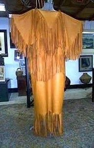 NATURAL BUCKSKIN DRESS, Native American Artifacts   Native American Clothes   Native American Regalia   Native American Tomahawk   Native American Headdress   Cherokee Visions I can see me wearing this too....losing my mind? No, simplifying