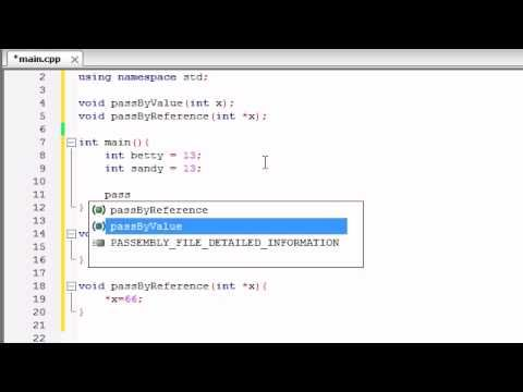 Buckys C++ Programming Tutorials - 39 - Pass by Reference