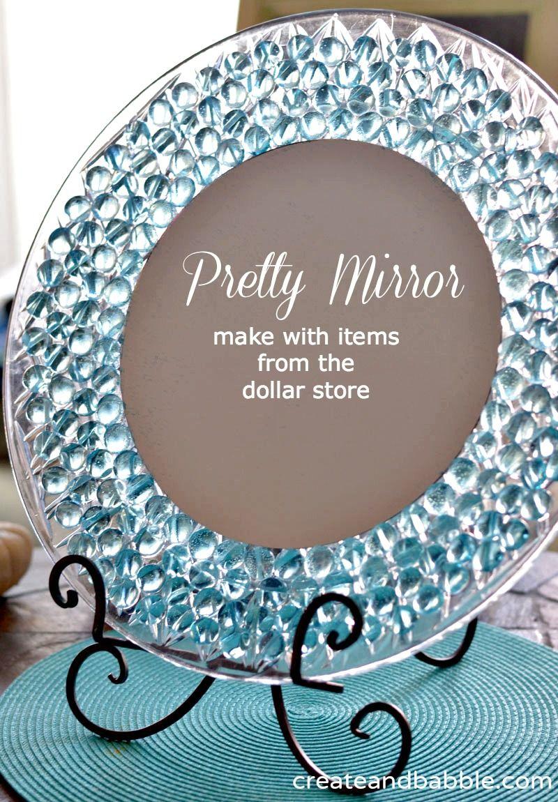 Dollar store crafts dresser mirror dollar stores and for Dollar store mirror craft