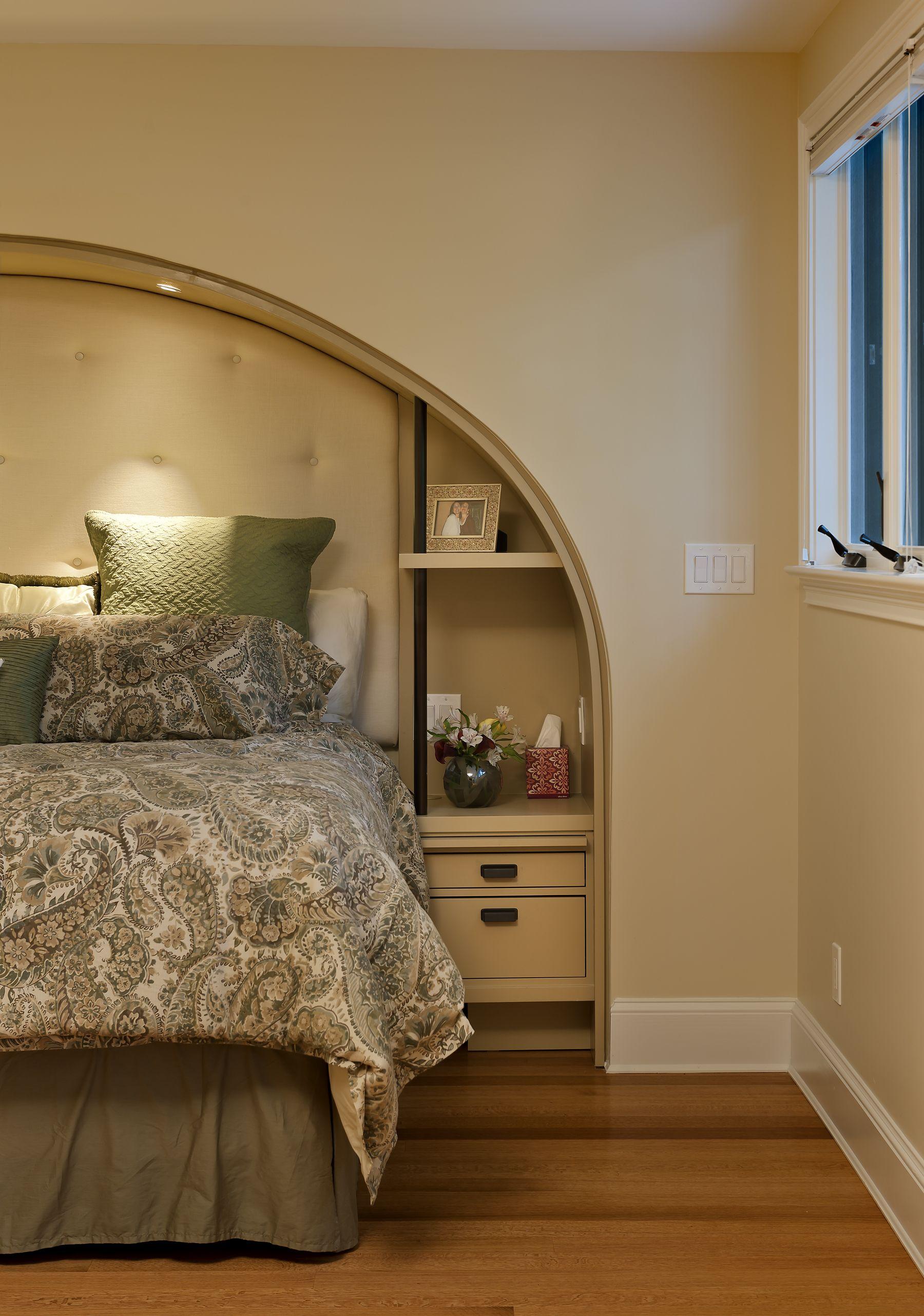 Master Bedroom Inset Bed + Recessed Lights Restful