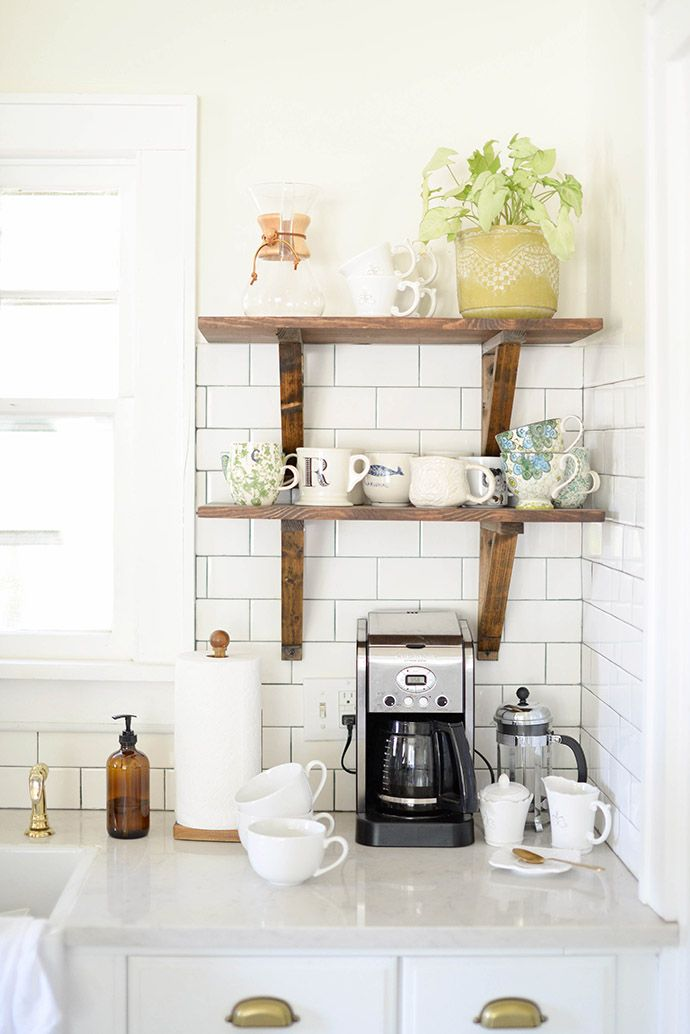 Coffee Nook Love The Open Shelving Instead Of Cabinet