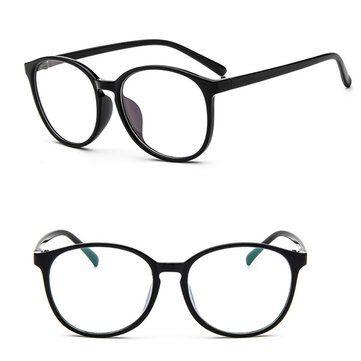 7fe98300b8 Hombres Lentes Ojos Lentes Plain Lentes Gran Oval Plástico Marco Gafas