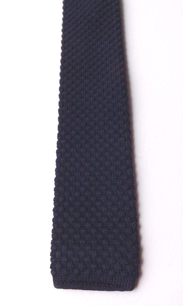 Vintage 1950/60s KNITTED SKINNY NECK TIE CRIMPLENE BLUE MOD SCOOTER FREE P&P #Crimplene #NeckTie