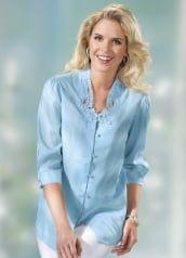 42edc5ce29e63a Bezaubernde, zart transparente Party-Bluse   MY MODEST CLOTHING ...