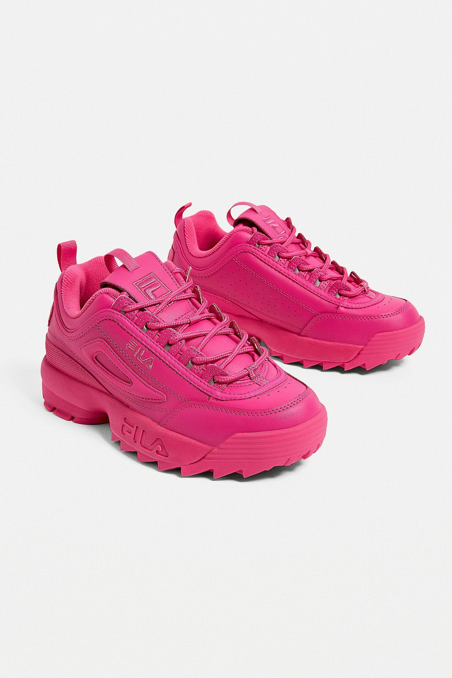 FILA Disruptor Premium Pink Trainers