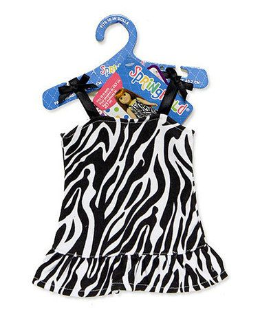 Another great find on #zulily! Doll Zebra Dress for 18'' Doll #zulilyfinds