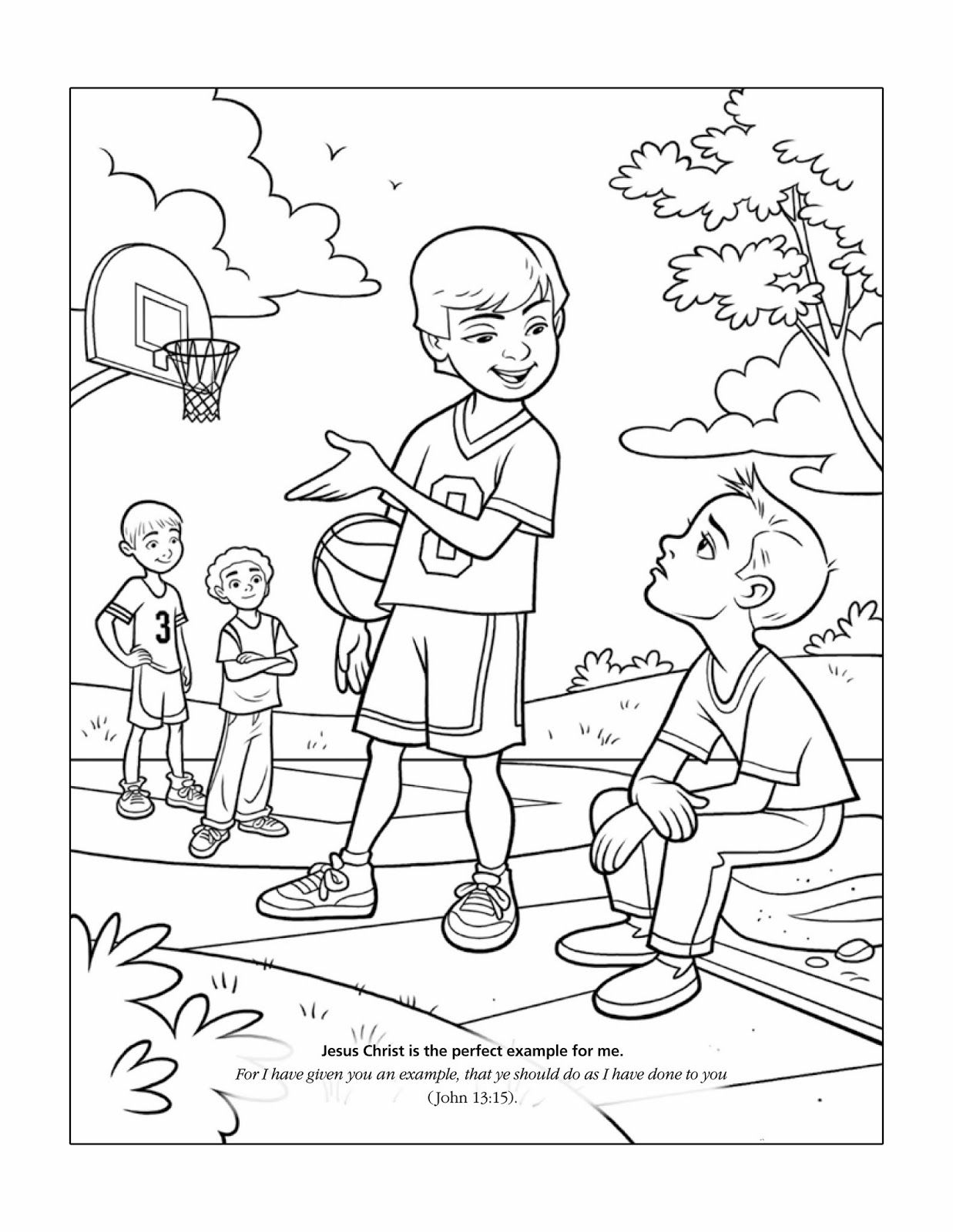 JOHN 1315 LDS Teaching Visuals Coloring Pages Lds