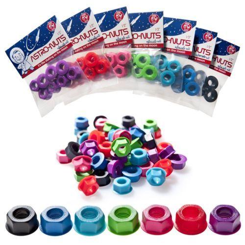 GRNMNSTR Astro Nuts Astronuts Nylon Locking Lock Axle Nuts Roller Derby Skates | eBay Pinkit tai violetit