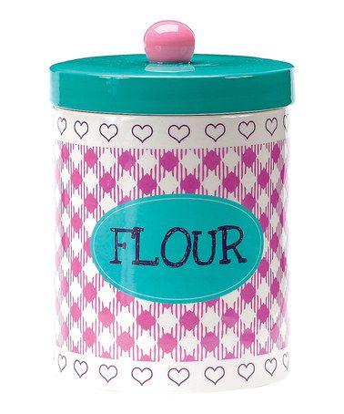 Take a look at this Boston Warehouse Baked Goods Flour Jar by Boston Warehouse on #zulily today!